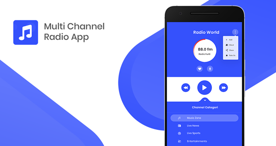 Multi Channel Streaming Radio with Dynamic Backend