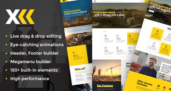 Samatex - Industrial WordPress Theme + Woocommerce