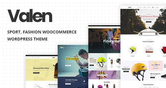 Valen - Sport, Fashion WooCommerce WordPress Theme