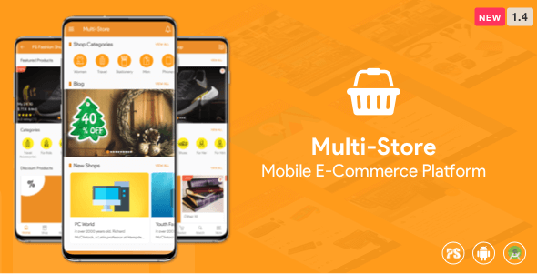 Multi-Store ( Mobile eCommerce Android App, Mobile Store App ) 1.4