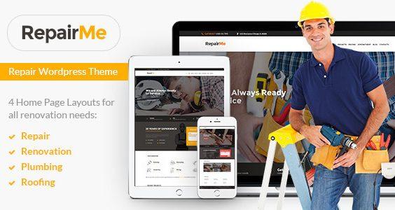 RepairMe - A Vibrant Construction & Renovation WordPress Theme