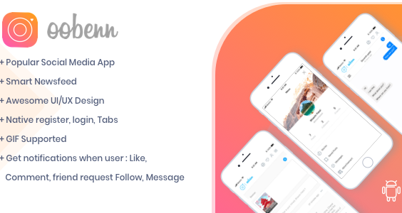 oobenn Instagram Style Social Networking Android App