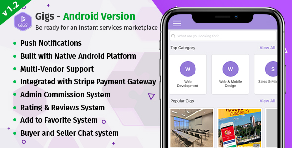 Download Gigs (Services Marketplace) - Fiverr Clone Native Android