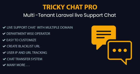 Tricky Chat Pro - Multi Tenant Live Support Chat