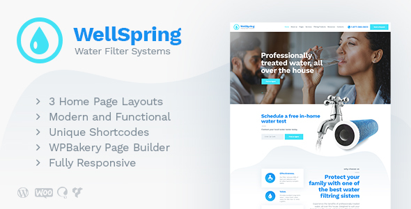 WellSpring | Water Filters & Drinking Water Delivery WordPress Theme