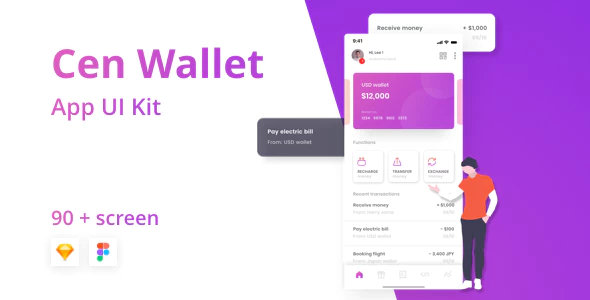 Cen - Bank and Wallet Mobile UI Kit