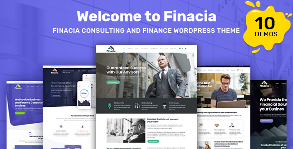 Finacia - Finance & Business WordPress Theme