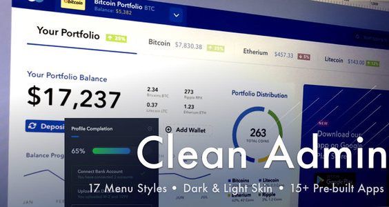 Light Admin - Clean Bootstrap 4 Dashboard HTML Template with Crypto