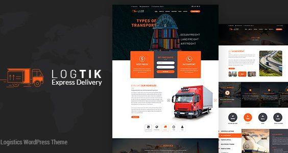Logtik | Logistics WordPress Theme