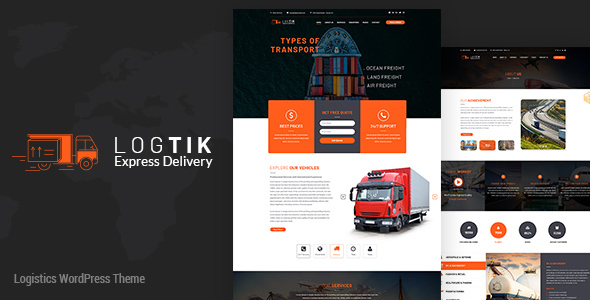 Logtik | Logistics WordPress Theme