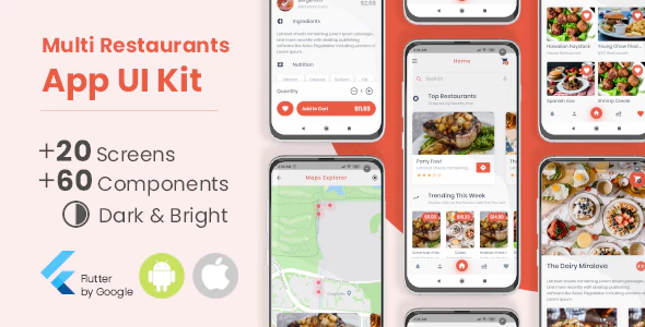 Multi Restaurants Flutter App UI Kit