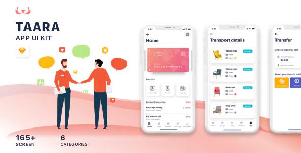 Taara Mobile Application UI Kit