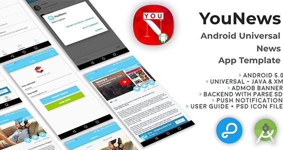 YouNews | Android Universal News App Template