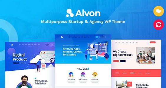 Alvon - Multipurpose Startup & Agency WordPress Theme