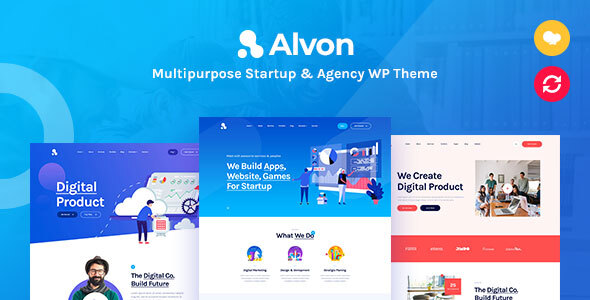 Alvon - Multipurpose Startup & Agency WordPress Theme