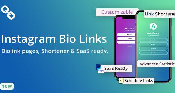 BioLinks - Instagram Bio Links & URL Shortener ( SaaS )