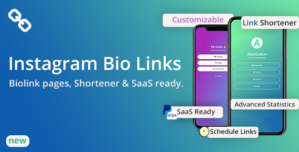 BioLinks - Instagram Bio Links & URL Shortener ( SaaS )