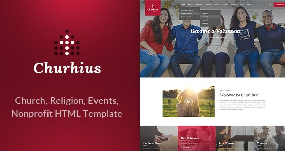 Churhius - Religion HTML Website Template