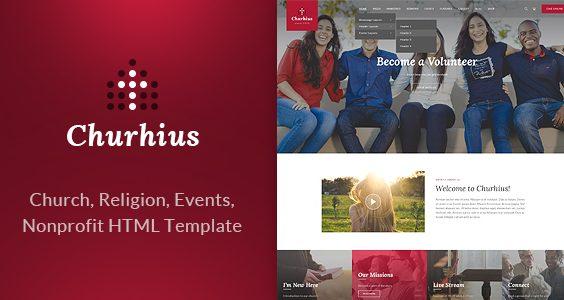 Churhius - Religion HTML Website Template