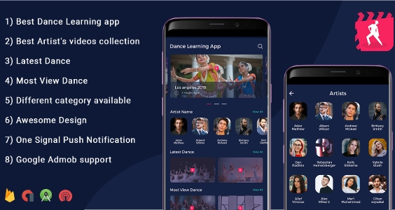 Dance learning App - Video App (youtube channel + live streaming + m3u8