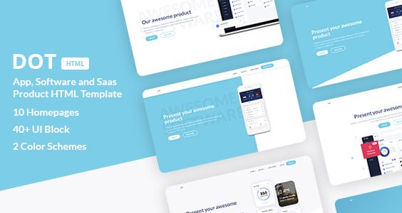 Dot - App, Software and SaaS Product HTML Template