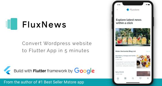 FluxNews - Flutter mobile app for Wordpress