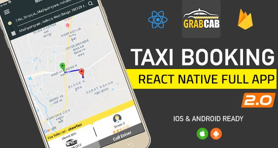 GrabCab React Native Taxi Booking Full App