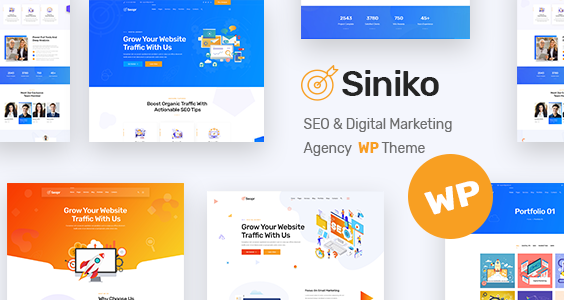 Siniko - Marketing Agency WordPress Theme