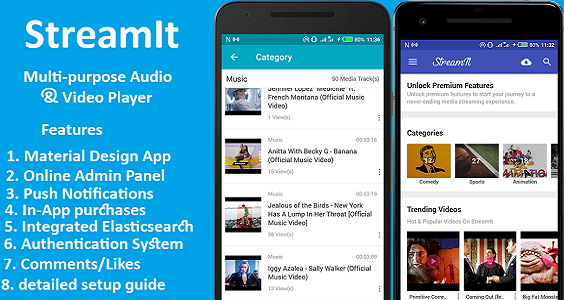 StreamIt - Multi-purpose Audio & Video Streaming app.