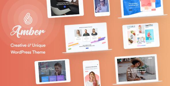 Amber Six | Creative and Multipurpose WordPress Theme