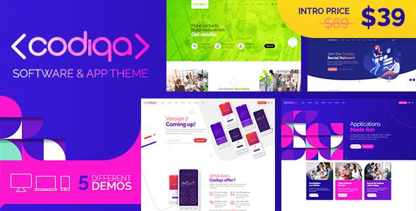 Codiqa - Software and App WordPress Theme