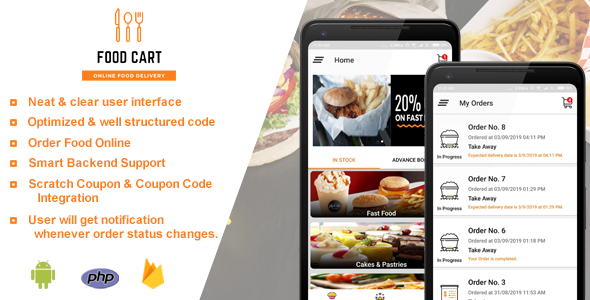 Food Cart - Online Food Delivery App