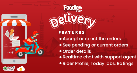 Foodies - Android Delivery Boy Mobile App