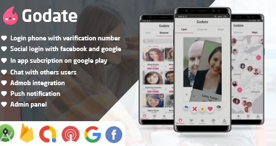 Godate - Dating App With Admin Panel