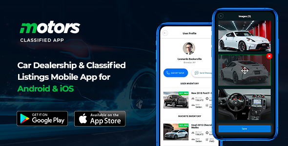 Motors - Car Dealership & Classified Listings Mobile App for Android & iOS
