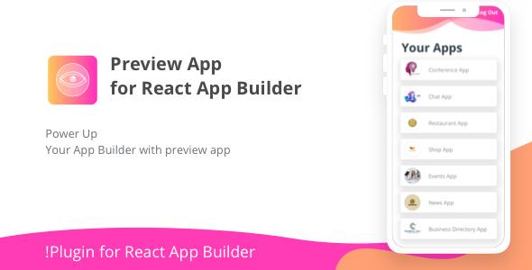 Preview App for React App Builder