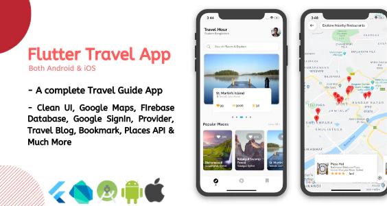 Flutter Travel App UI Kit Template