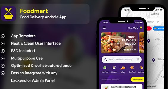 Food Delivery Android App + Food Delivery iOS App (IONIC 4)