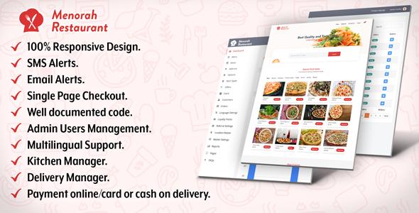 Menorah Restaurant - Restaurant Food Ordering System