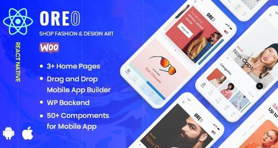 Oreo Fashion - Full React Native App for Woocommerce