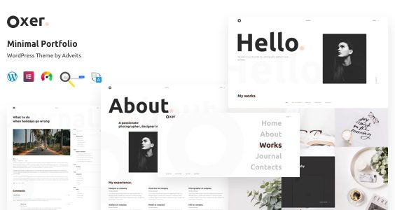 Oxer - Minimal Portfolio WordPress Theme