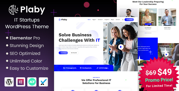 Plaby - IT Startup WordPress Theme