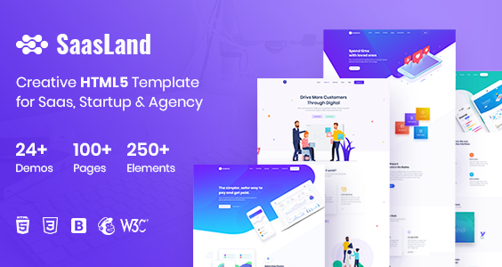 SaasLand - Creative HTML5 Template for Saas, Startup & Agency