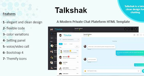 Talkshak Chat Messenger Responsive Template