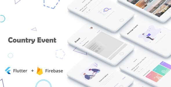 Flutter Event Country Apps in Flutter