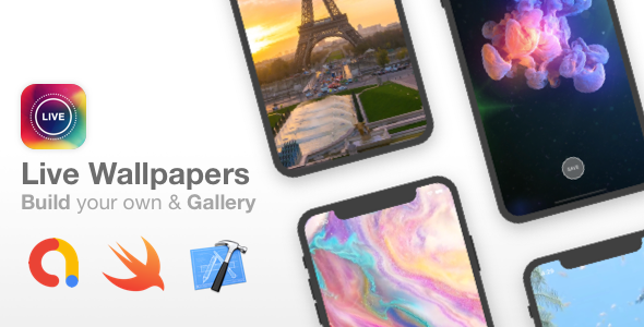 Live Wallpapers iOS - Full app template with over 25 wallpapers - Build mode to create Live Photos