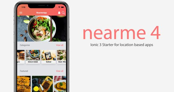 Nearme - Ionic 3 Starter for Location Based Apps