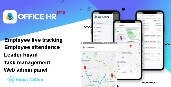 Office HR Pro (Live Employee Tracking app + Web Admin Panel)