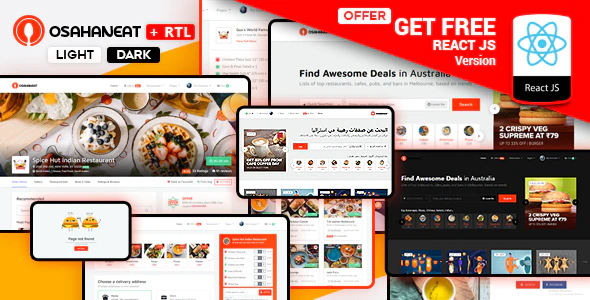 Osahan Eat - Online Food Website HTML Template