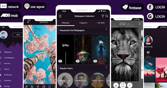 Pro 4K Wallpaper 2020 & Photo Editor System - AdMob & Facebook Ads & Push Notifications